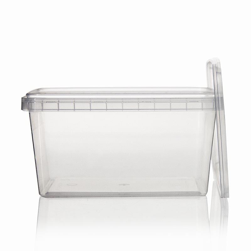 kunststoffdose rectacup rechteckig mit deckel 139x98x71mm 600ml 1 st kunststoffdose. Black Bedroom Furniture Sets. Home Design Ideas